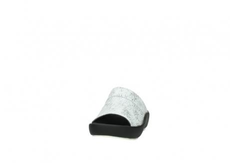 wolky slippers 3326 havana 711 wit zwart canal leer_20