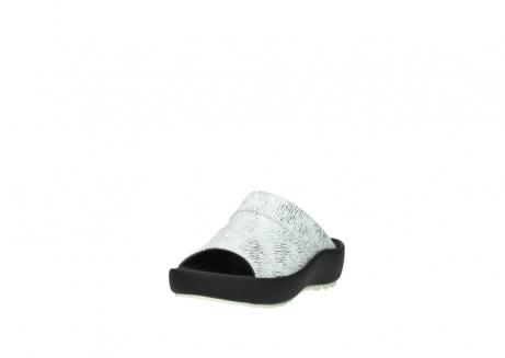 wolky slippers 3326 havana 711 wit zwart canal leer_21