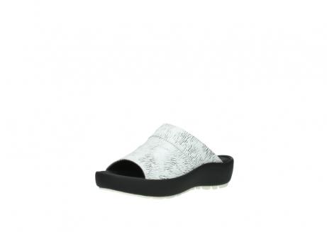 wolky slippers 3326 havana 711 wit zwart canal leer_22
