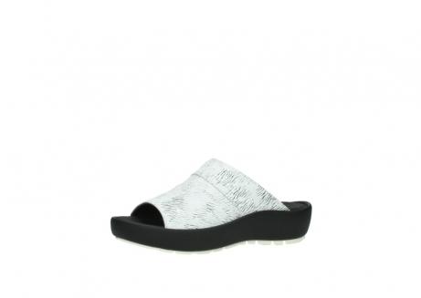 wolky slippers 3326 havana 711 wit zwart canal leer_23