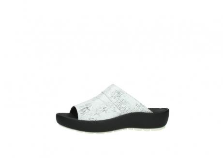 wolky slippers 3326 havana 711 wit zwart canal leer_24