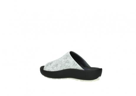 wolky slippers 3326 havana 711 wit zwart canal leer_3