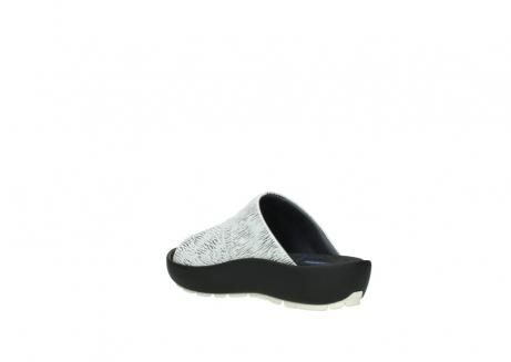 wolky slippers 3326 havana 711 wit zwart canal leer_4