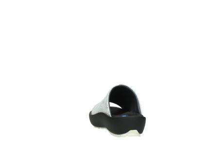 wolky slippers 3326 havana 711 wit zwart canal leer_6