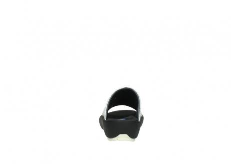 wolky slippers 3326 havana 711 wit zwart canal leer_7