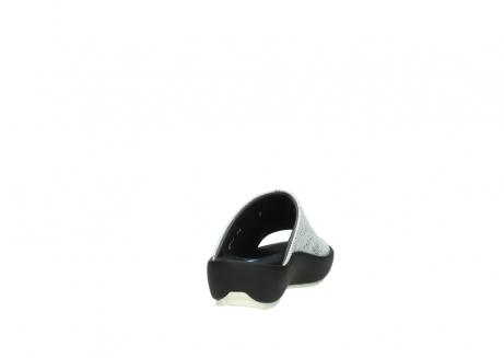 wolky slippers 3326 havana 711 wit zwart canal leer_8