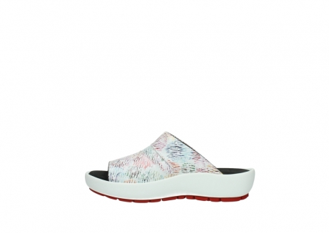 wolky slippers 3326 havana 798 wit multi color canal leer_1