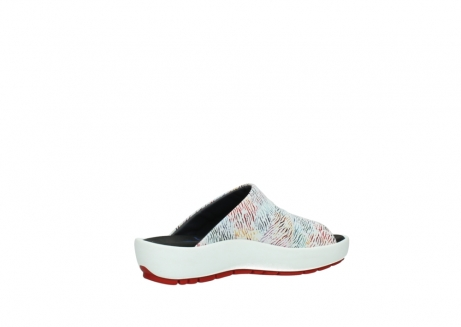 wolky slippers 3326 havana 798 wit multi color canal leer_11