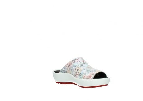 wolky slippers 3326 havana 798 wit multi color canal leer_16