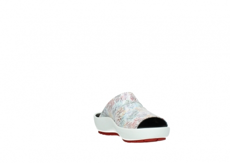 wolky slippers 3326 havana 798 wit multi color canal leer_17