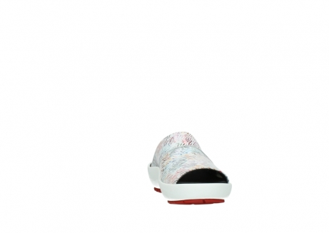 wolky slippers 3326 havana 798 wit multi color canal leer_18