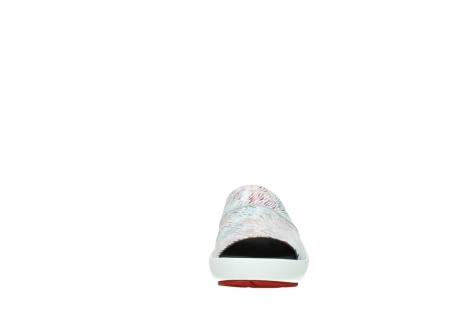 wolky slippers 3326 havana 798 wit multi color canal leer_19