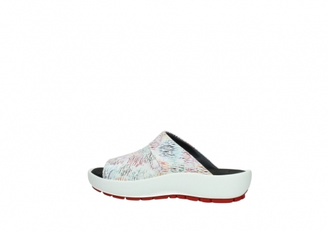 wolky slippers 3326 havana 798 wit multi color canal leer_2