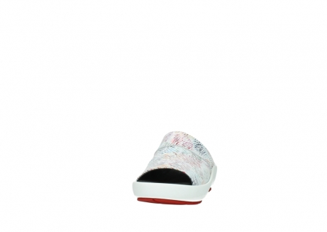 wolky slippers 3326 havana 798 wit multi color canal leer_20