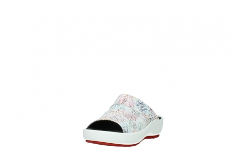 wolky slippers 3326 havana 798 wit multi color canal leer_21
