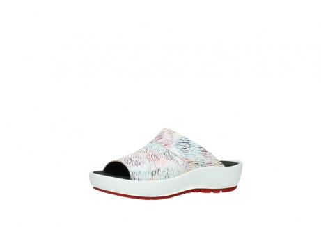 wolky slippers 3326 havana 798 wit multi color canal leer_23