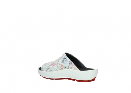 wolky slippers 3326 havana 798 wit multi color canal leer_3