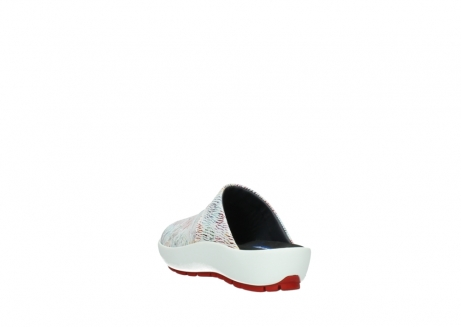 wolky slippers 3326 havana 798 wit multi color canal leer_5