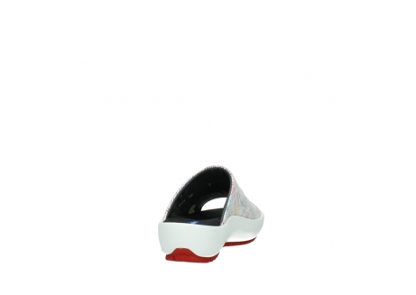 wolky slippers 3326 havana 798 wit multi color canal leer_8