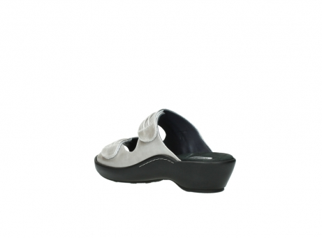 wolky slippers 3472 bago 919 parelwit metallic leer_4