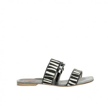 wolky pantoletten 4645 miami 500 zebra print leder