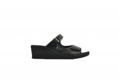 wolky slippers 4677 negara 200 zwart leer