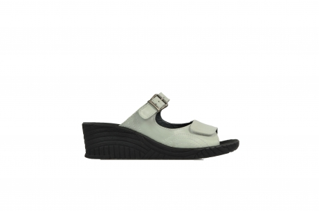 wolky slippers 4677 negara 212 gebroken wit leer