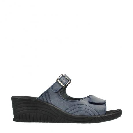 wolky slippers 4677 negara 280 donkerblauw leer