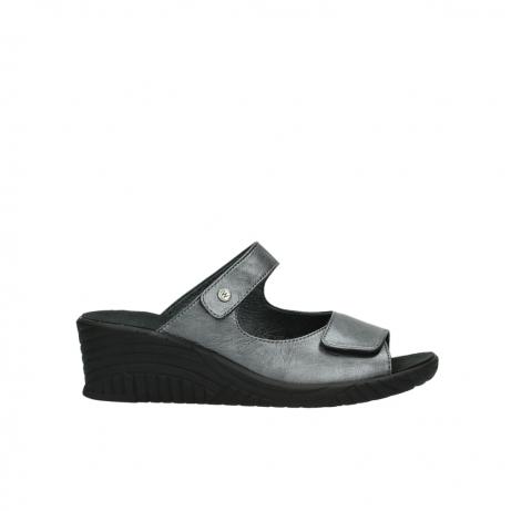 wolky slippers 4678 arenal 928 grijs metallic leer