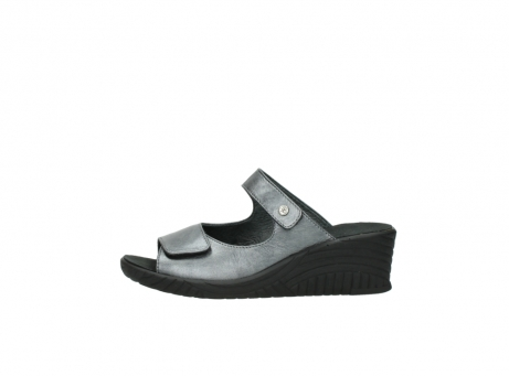 wolky slippers 4678 arenal 928 grijs metallic leer_1