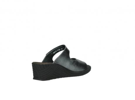 wolky slippers 4678 arenal 928 grijs metallic leer_10