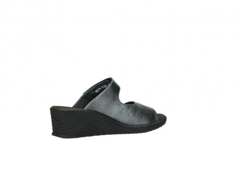 wolky slippers 4678 arenal 928 grijs metallic leer_11