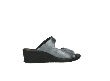 wolky slippers 4678 arenal 928 grijs metallic leer_12