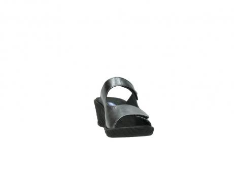 wolky slippers 4678 arenal 928 grijs metallic leer_18