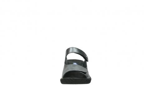 wolky slippers 4678 arenal 928 grijs metallic leer_19