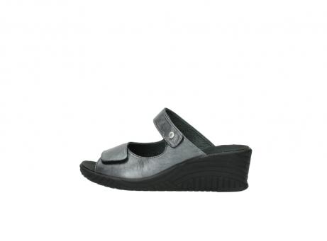wolky slippers 4678 arenal 928 grijs metallic leer_2