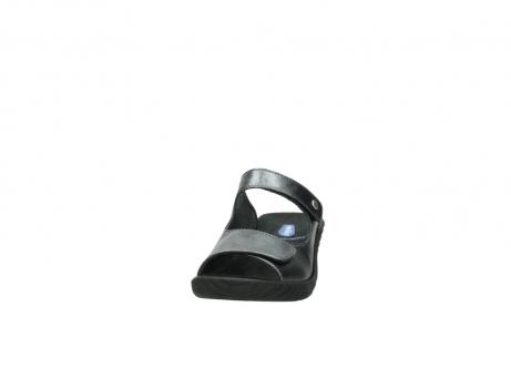 wolky slippers 4678 arenal 928 grijs metallic leer_20