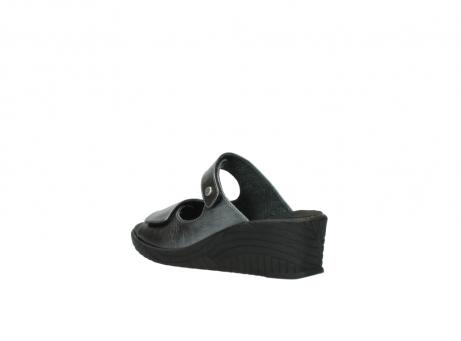 wolky slippers 4678 arenal 928 grijs metallic leer_4