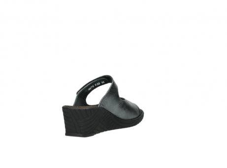 wolky slippers 4678 arenal 928 grijs metallic leer_9