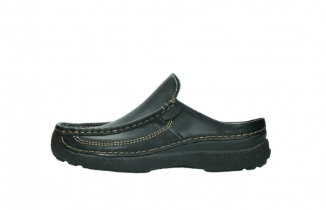 wolky slippers 9210 roll slide men 500 zwart leer_1