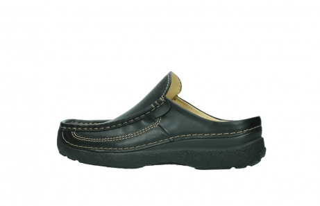 wolky slippers 9210 roll slide men 500 zwart leer_2