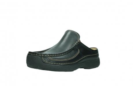 wolky slippers 9210 roll slide men 500 zwart leer_22