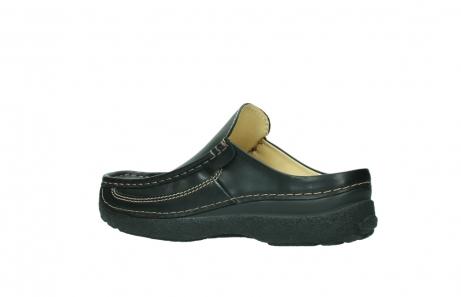 wolky slippers 9210 roll slide men 500 zwart leer_3