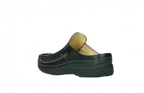 wolky slippers 9210 roll slide men 500 zwart leer_4