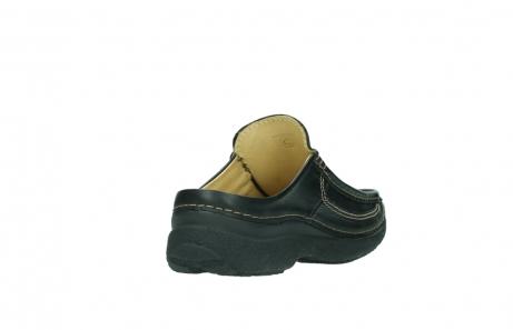wolky slippers 9210 roll slide men 500 zwart leer_9