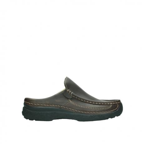 wolky slippers 9210 roll slide men 530 bruin leer
