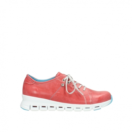 wolky sneakers 02051 mega 30570 rood zomer leer