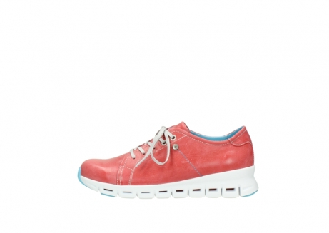 wolky sneakers 02051 mega 30570 rood zomer leer_1