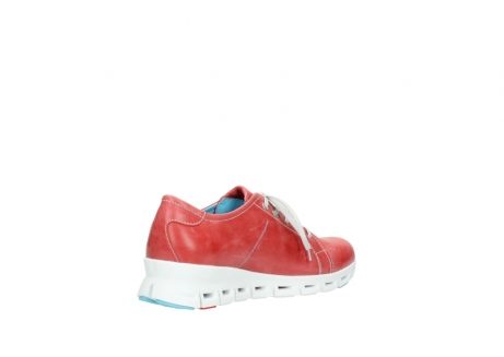 wolky sneakers 02051 mega 30570 rood zomer leer_10