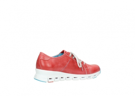 wolky sneakers 02051 mega 30570 rood zomer leer_11